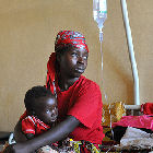 Mother and child recover from malaria in Burundi