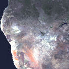 Satellite image of Namibia
