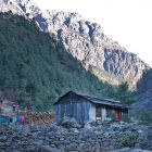 Farmhouse in mountain Nepal