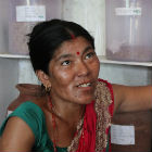 Local worker at community seed bank in Nepal