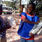 Newspaper sellers in Africa