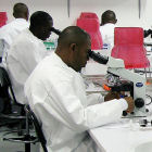 Nigerian scientists in a laboratory