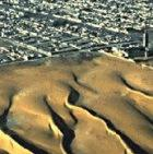 Satellite images of sand dunes encroaching on Nouakchott in Mauritania