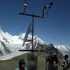 Pakistan met officials set up glacier monitoring station at the Passu glacier in Hunza Valley
