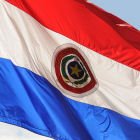 The national flag of Paraguay
