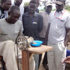 Pedal-powered paste maker Uganda