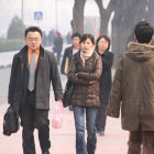 People walking in Beijing