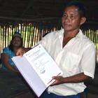 Ceremonia de entrega de títulos de conocimientos colectivos a comunidades de pueblos Bora y Ocaina