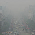 Polluted city, China
