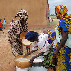 Rice preparation in Mali
