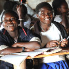 Secondary students at school in DRC