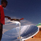 A child using solar power
