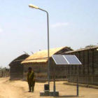 Solar panels in a village in Pakistan