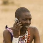 A Tanzanian man on mobile
