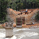 Obras de construccin de represa Teles Pires