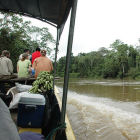 Boat ride to Tiputini Biodiversity Station, Ecuadorian Amazon