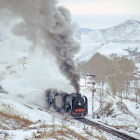 Steam-powered train, Mongolia