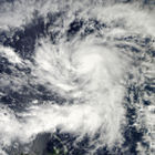 Typhoon Bopha in the western North Pacific, 2012