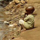 Child in a Ugandan slum