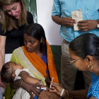 Delivering vaccines, India