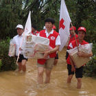 Rescue workers in Vietnam