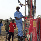 Well drilling in South Sudan