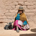 Woman in drought affected community, Bolivia