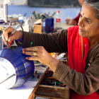 A woman at a solar engineering training workshop in India