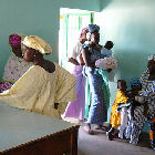 Women attend a clinic