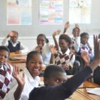 African students in classroom