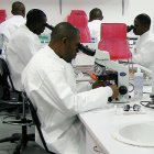 African researchers in lab