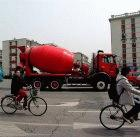 Cement truck in Tianjin