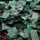 A pile of computer circuit boards