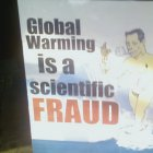 Global warming fraud poster