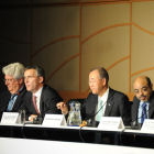 Panellists at the Mobilizing Long-term Climate Finance for Developing Countries talk