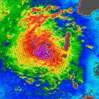 Windspeed map of Cyclone Sidr
