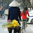 Hanoi man on bicycle