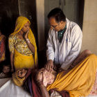 Patient receives check-up, India