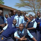 Kenyan schoolchildren by Flickr/sharonpe
