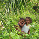 Children in Cuban forest