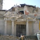 A government office disrupted by the 2009 earthquake