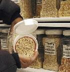 Maize seeds stored in a seed bank