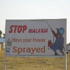 Stop malaria sign