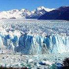 A melting glacier in Argentina