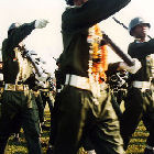 Burmese soldiers on parade
