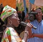 A female candidate campaigns for local office in Mali