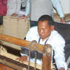 Shri Y Mangi Singh from Manipur, India invented a kouna grass mat-weaving machine