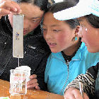 Chinese students doing experiments