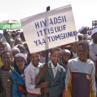 Children at a World AIDS day event in Ethiopia, 2008