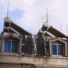 water heaters on rooftop